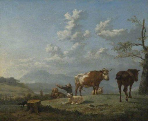 Pastoral Landscape   Carel Dujardin   Oil Painting
