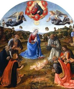 The Adoration of the Child Jesus | Cosimo Rosselli | Oil Painting