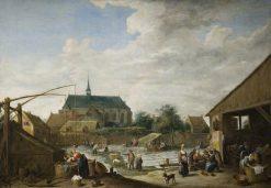 The Bleaching Ground | David Teniers II | Oil Painting