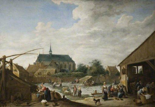 The Bleaching Ground   David Teniers II   Oil Painting