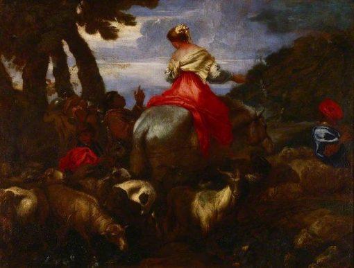 Rebecca Led by the Servant of Abraham | Giovanni Castiglione | Oil Painting