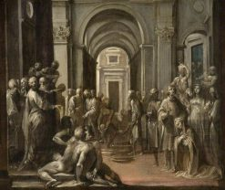 Saint Lawrence among the Poor and Sick | Giuseppe Cesari | Oil Painting