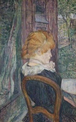 A Woman Seated in a Garden | Henri de Toulouse Lautrec | Oil Painting