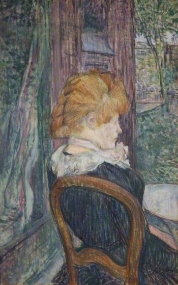 A Woman Seated in a Garden | Henri de Toulouse Lautrec | Oil Painting