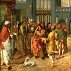 Joseph and the Suitors (recto)   Jan de Beer   Oil Painting