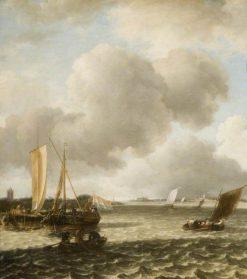 Boats on Ruffled Water | Jan van de Cappelle | Oil Painting