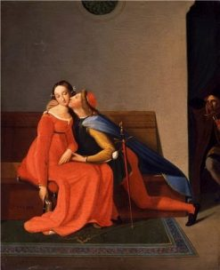 Paolo and Francesca   Jean Auguste Dominique Ingres   Oil Painting