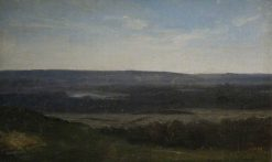 Landscape with Distant Mountains | Jean Baptiste Camille Corot | Oil Painting