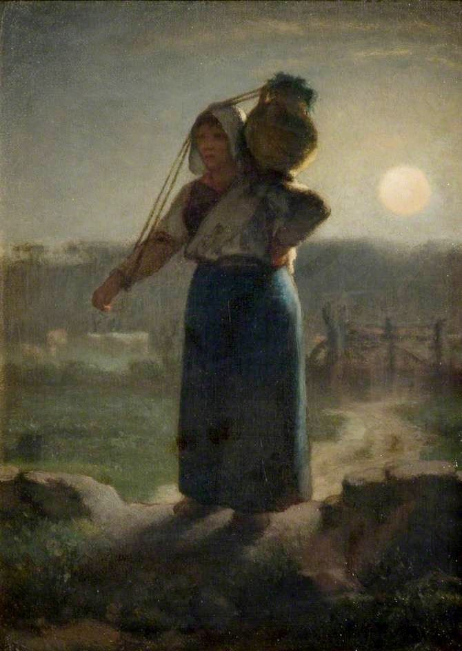 A Milkmaid   Jean Francois Millet   Oil Painting