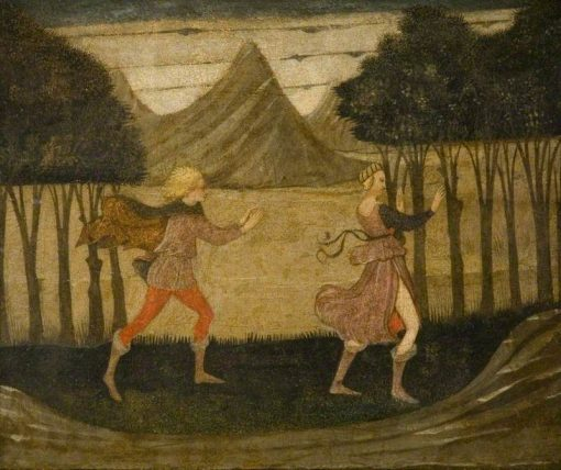 Daphne Pursued by Apollo   Master of the Judgement of Paris   Oil Painting