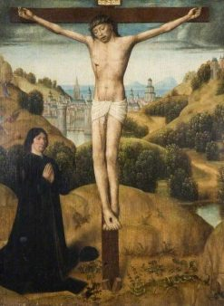 Christ on the Cross with a Donor | Master of the legend of St Ursula | Oil Painting