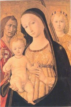 Madonna and Child with Saint John the Baptist and Saint Michael the Archangel | Matteo di Giovanni di Bartolo | Oil Painting