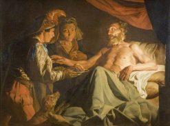 Isaac Blessing Jacob   Matthias Stomer   Oil Painting