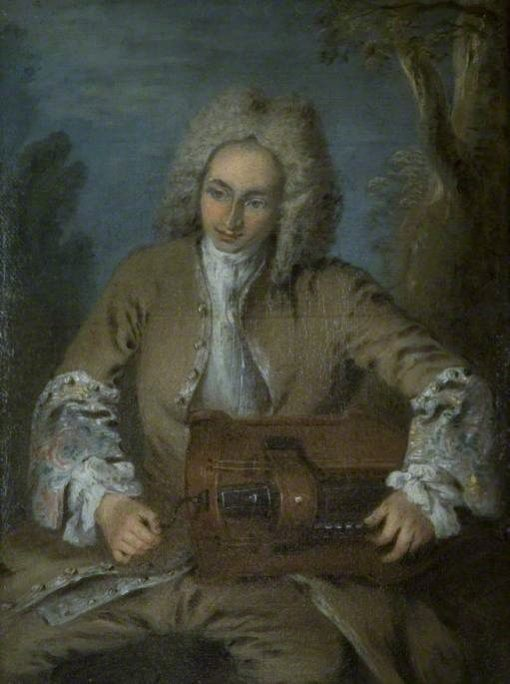 A Man Playing a Hurdy-Gurdy | Nicolas Lancret | Oil Painting