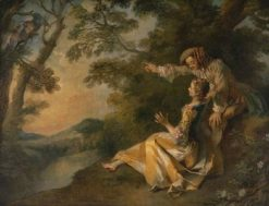 Lovers in a Landscape | Nicolas Lancret | Oil Painting