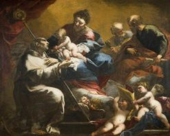The Madonna and Child with Saints Peter and Paul Appearing to Saint Bruno | Valerio Castello | Oil Painting