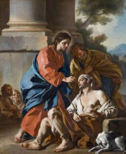 Christ Healing the Blind Man | Francesco de Mura | Oil Painting