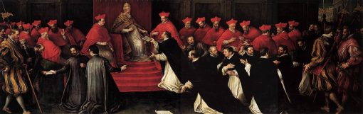 Honorius III Approving the Rule of Saint Dominic in 1216 | Leandro Bassano | Oil Painting