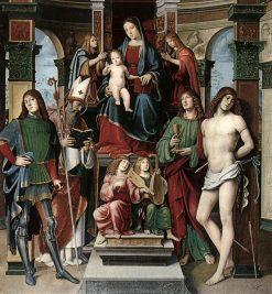 Madonna with Saints | Francesco Francia | Oil Painting