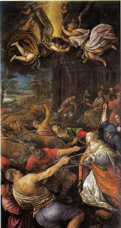 The Miracle of the immobility of Santa Lucia | Leandro Bassano | Oil Painting