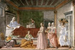 Birth of Saint John the Baptist (Cappella Tornabuoni) | Domenico Ghirlandaio | Oil Painting
