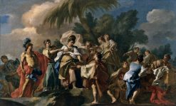 Achilles among the Daughters of Lycomedes   Francesco de Mura   Oil Painting