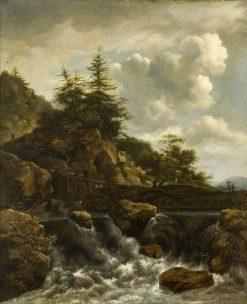 The Waterfall | Jacob van Ruisdael | Oil Painting