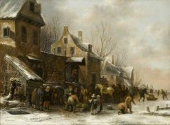 Winter Scene in Holland | Klaes Molenaer | Oil Painting