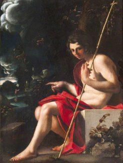 Saint John the Baptist | Bartolomeo Schedoni | Oil Painting