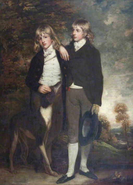 The Honourable John Cust and His Brother the Honourable Henry Cockayne Cust | John Hoppner | Oil Painting