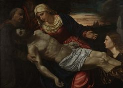 Pieta with Three Saints | Giovanni Girolamo Savoldo | Oil Painting