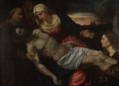 Pieta with Three Saints | Giovanni Girolamo Savoldo | Oil Painting