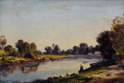 Evening on the River | Herbert Hughes Stanton | Oil Painting