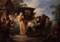 The Poet Roquebrun Breaks his Garter | Jean Baptiste Pater | Oil Painting