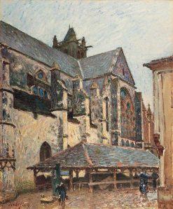 The Church at Moret in Rain | Alfred Sisley | Oil Painting