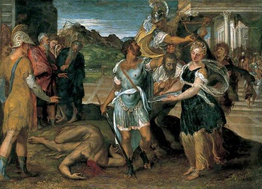 The Execution of Saint John the Baptist   Andrea Schiavone   Oil Painting