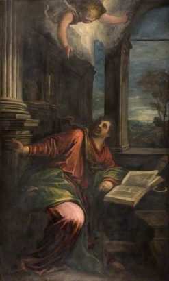 St John the Divine   Francesco Bassano the Younger   Oil Painting