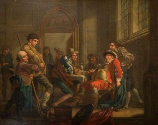 Sir John Falstaff Raising Recruits | Francis Hayman | Oil Painting