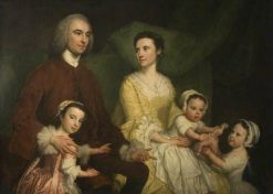 Dr Samuel Walthen with His Wife and Children | George Knapton | Oil Painting