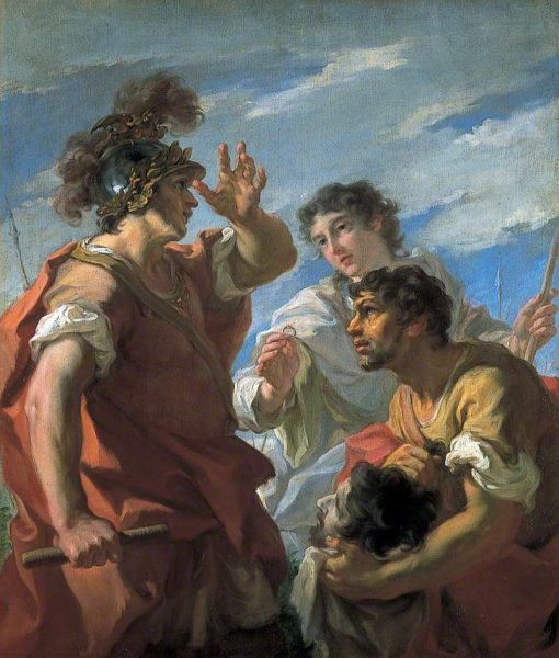 Caesar Before Alexandria | Giovanni Antonio Pellegrini | Oil Painting