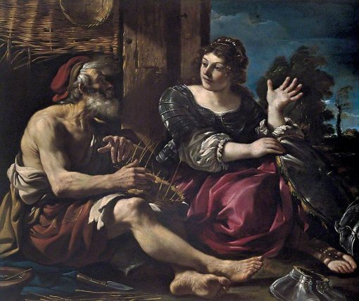 Erminia and the Shepherds   Guercino   Oil Painting