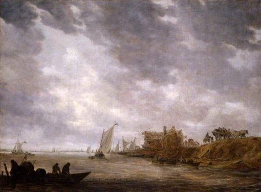 A River Scene | Jan van Goyen | Oil Painting