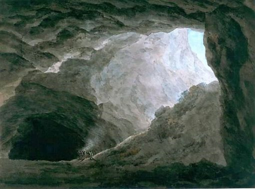 A Grotto in the Campagna   John Robert Cozens   Oil Painting