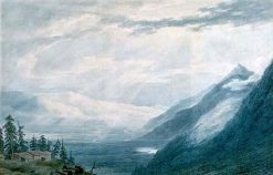 An Alpine Valley (Valley of Sion/ Pays De Valais ) | John Robert Cozens | Oil Painting