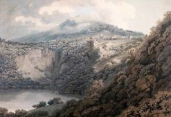 Lake And Town of Nemi | John Robert Cozens | Oil Painting