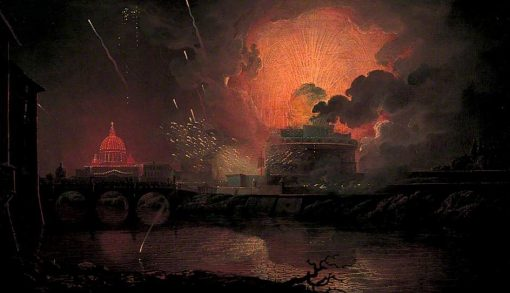 Firework Display at Castel Sant'Angelo | Joseph Wright of Derby | Oil Painting