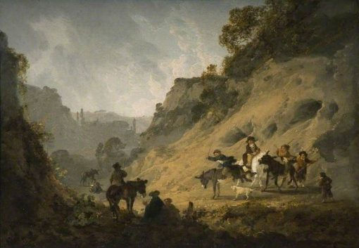 Gypsies with an Ass Race | Julius Caesar Ibbetson | Oil Painting