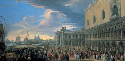 The Arrival of the Earl of Manchester in Venice | Luca Carlevarijs | Oil Painting