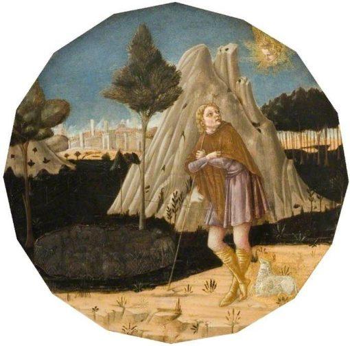 Angel Appearing to Joachim | Matteo di Giovanni di Bartolo | Oil Painting