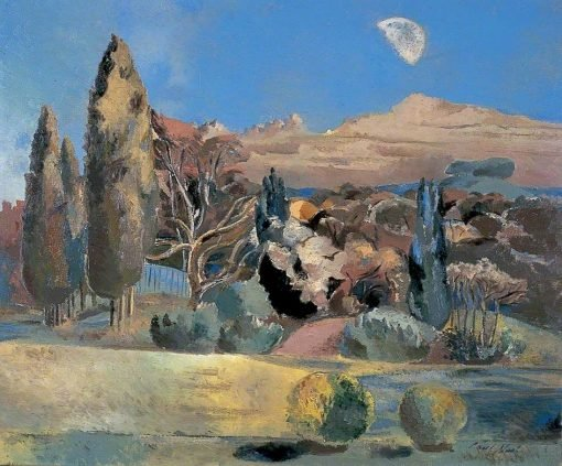 Landscape of the Moon's First Quarter | Paul Nash | Oil Painting
